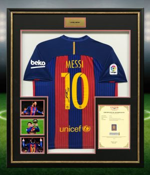 Lionel Messi signed Guernsey